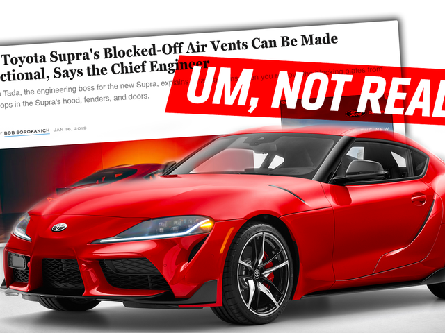 I Just Don't Believe What the Toyota Supra's Chief Engineer Says About the Fake Vents