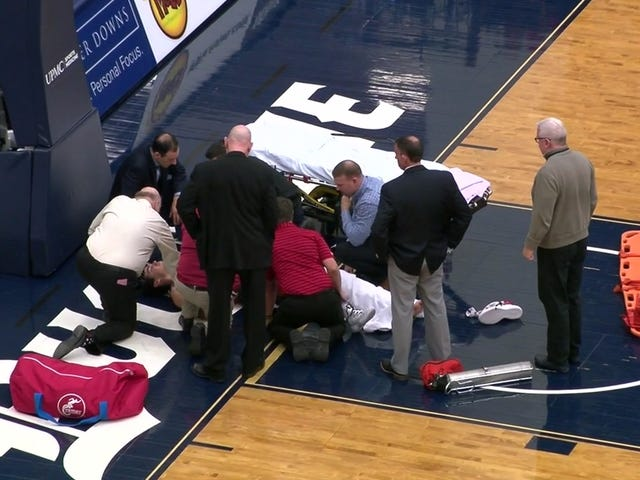 Saint Joseph's Player Taken Off In Stretcher After Brutal Leg Injury