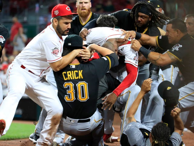 MLB Suspends Four Pirates, Three Reds, One Guy Who's Now On A Different Team For Brawl