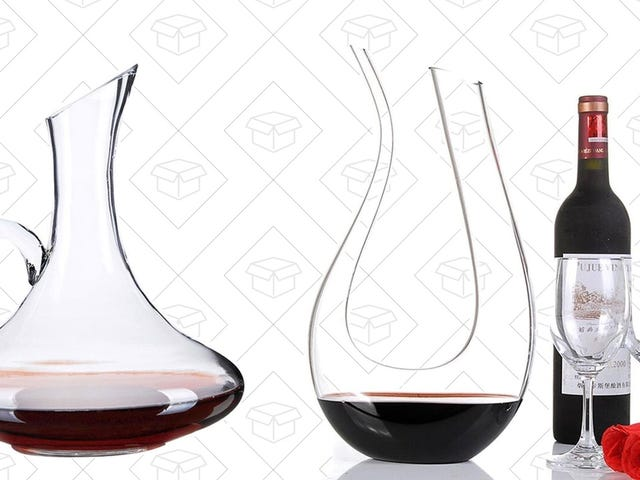 Make Your Wine Seem Fancier With These Discounted Wine Decanters