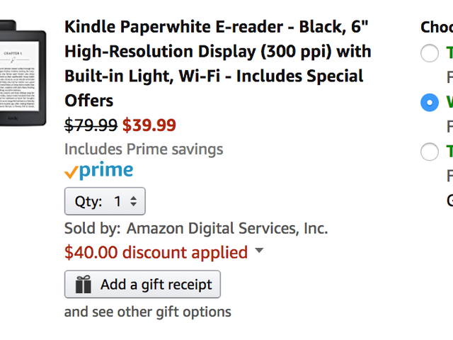 Price Mistake: Order a Kindle Paperwhite For $40, and Hope It Actually Ships [Update: Now $80]