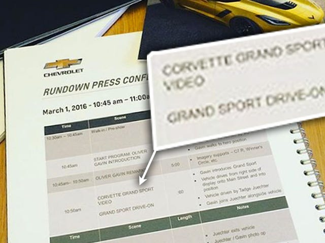 Här är bevis på att en ny Corvette Grand Sport kommer att presenteras i morgon