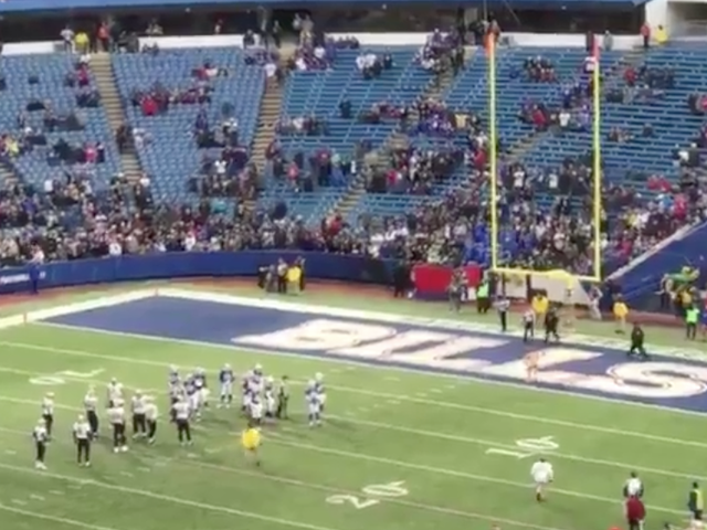 Even A Naked Idiot On The Field Found The End Zone In Buffalo
