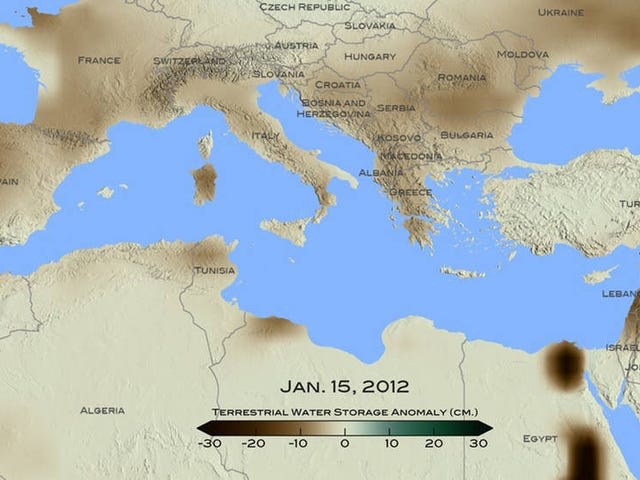 最近地中海东部的干旱是900年来最严重的干旱