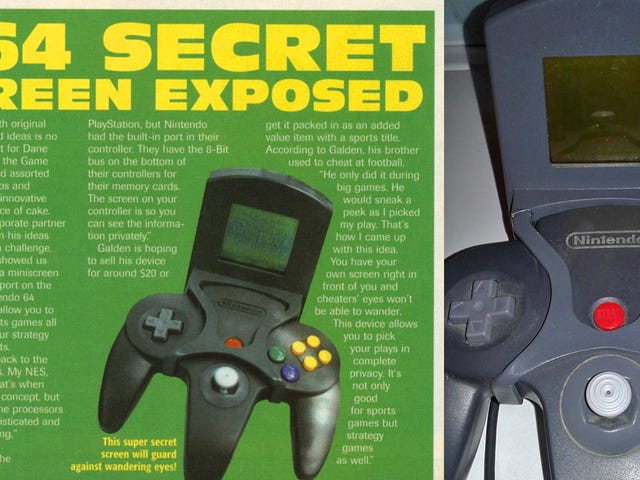Bộ điều khiển N64 gần như có màn hình thứ hai riêng tư của nó