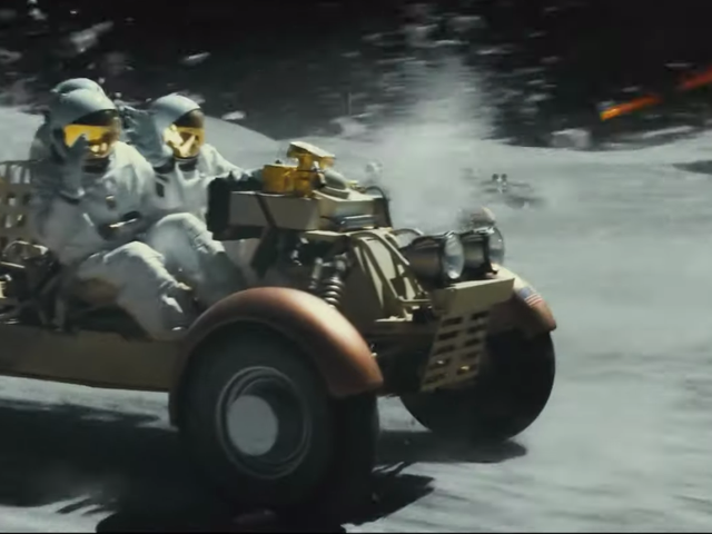 Ad Astra's Lunar Rover Car Chase Looks Like Mad Max In Space