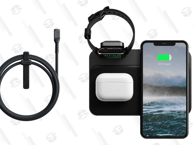 Buy a Nomad Base Station to Charge All Your Apple Devices at Once, Get 50% off a Kevlar Cable