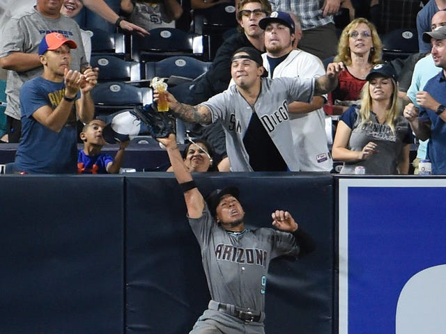 Dramatic Dinger-Robbing Catch Denied By Beer