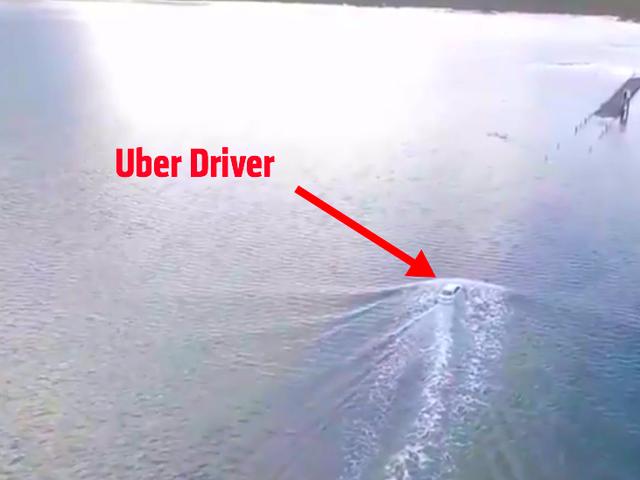 Uber Driver a tenté de traverser la mer après avoir été surpris par les marées