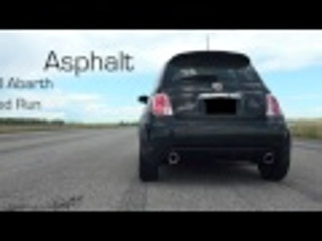 Fiat 500 Abarth Top Speed!