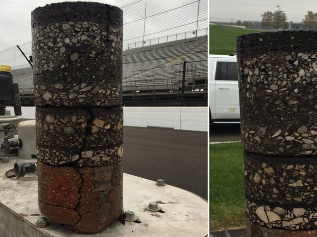 What 108 Years Of Repaving Looks Like Under Indianapolis Motor Speedway's Asphalt