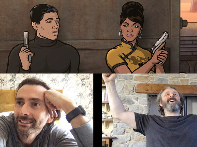 Archer returns (sans coma) as David Tennant and Michael Sheen get Staged