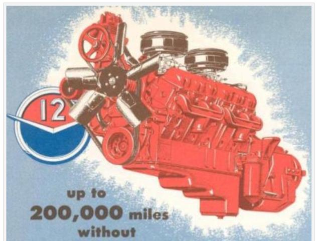 GM Twin Six: 702 CID, 275 HP, 630 Torques