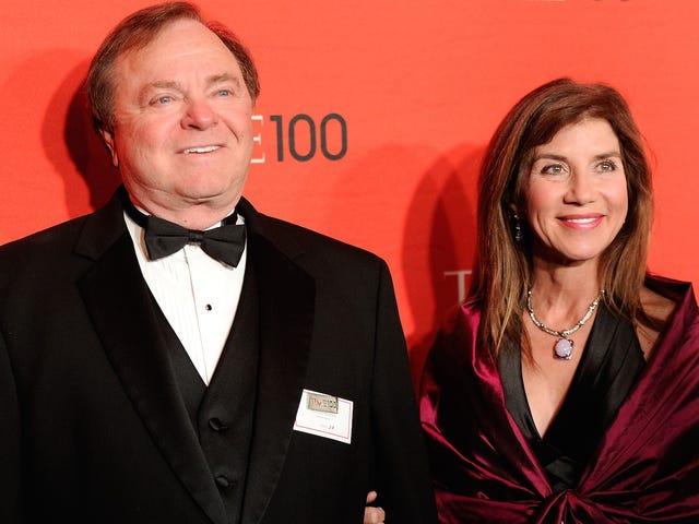 Gli ex sposi miliardari diventano reali come inferno, ospitano raccolte fondi per Trump e Clinton