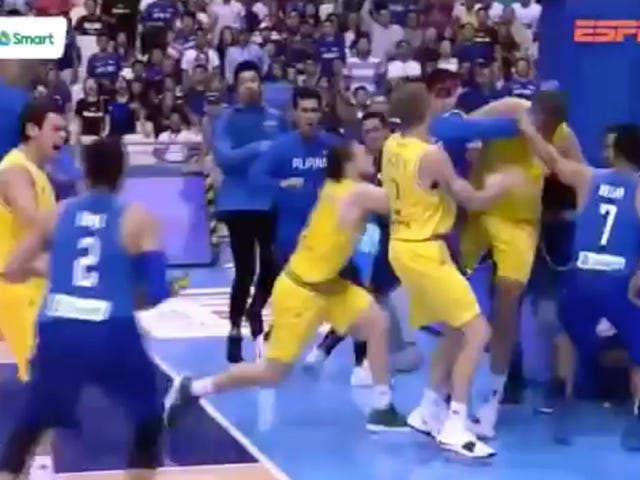 Huge Brawl Breaks Out During Australia-Philippines Basketball Game
