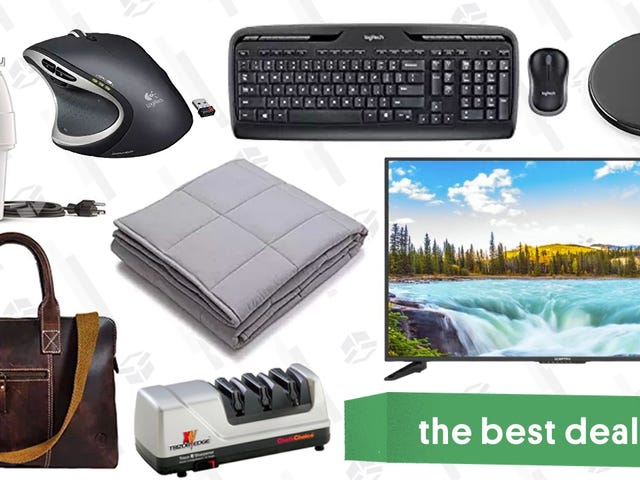 "Wednesday's Best Deals: Logitech Sale, $200 50"" TV, Weighted Blanket, and More"