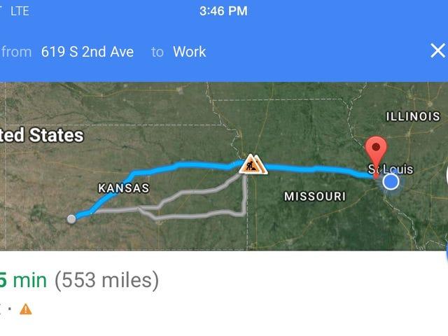 Hanya mendapat panggilan, saya memandu ke Kansas malam ini
