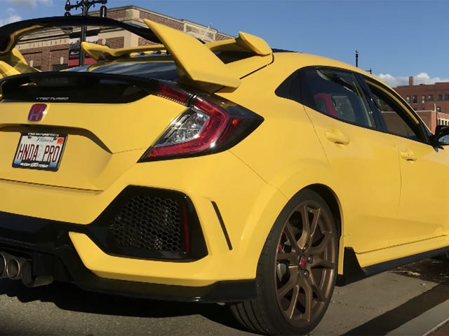 The Only Phoenix Yellow2018 Honda Civic Type R Looks Strikingly Sharp