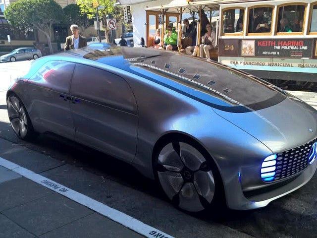 梅赛德斯自驾车似乎在旧金山已经流氓
