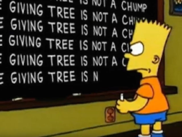 Somebody went and ranked every Simpsons chalkboard gag