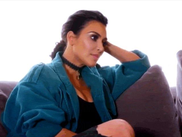 Αυτό το Κλιπ του Kim Kardashian Συζητώντας Κλήση Taylor Swift ένας Λιβκάρ Φαίνεται περίεργα Επεξεργασμένο