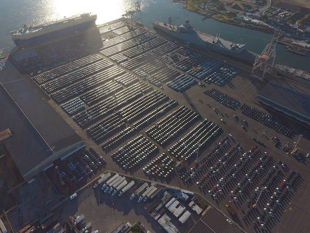 Estos son los 4.000 Tesla que están listos para viajar a Europa y encontrarse con sus dueños