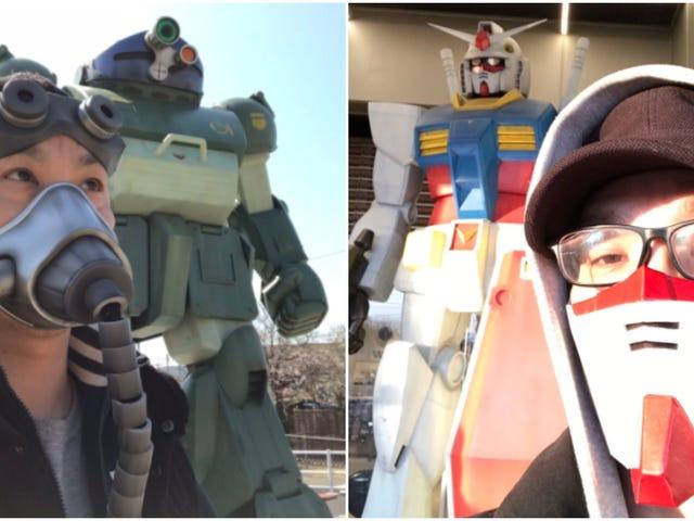 Mann macht ausgezeichnete Gundam-themenorientierte Masken