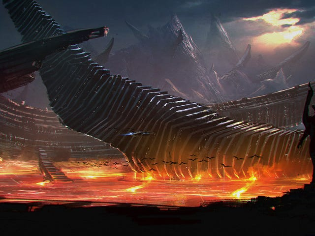 Gorgeous Concept Art of the Fiery Alien Planet From Syfy's Childhood's End