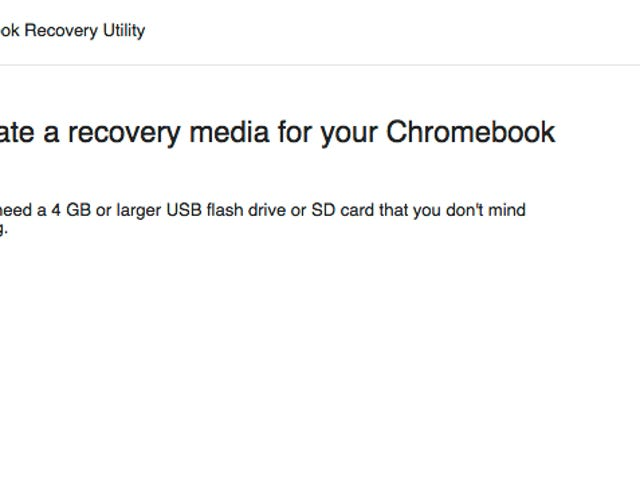Βοηθητικό πρόγραμμα ανάκτησης Chromebook καθιστά το μέσο αποκατάστασης για το Chromebook σας