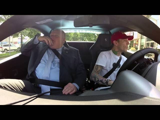 Watch Rob Ford Go For A Ride In Deadmau5's Nyan Cat Ferrari
