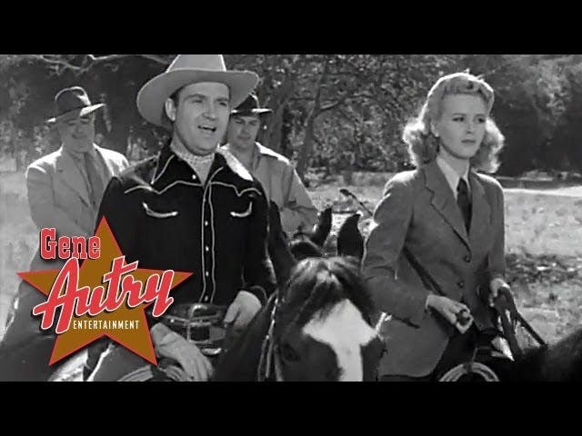 """Sing Me a Song of the Saddle"" -Gene Autry from ""Sunset in Wyoming"" (1941)"
