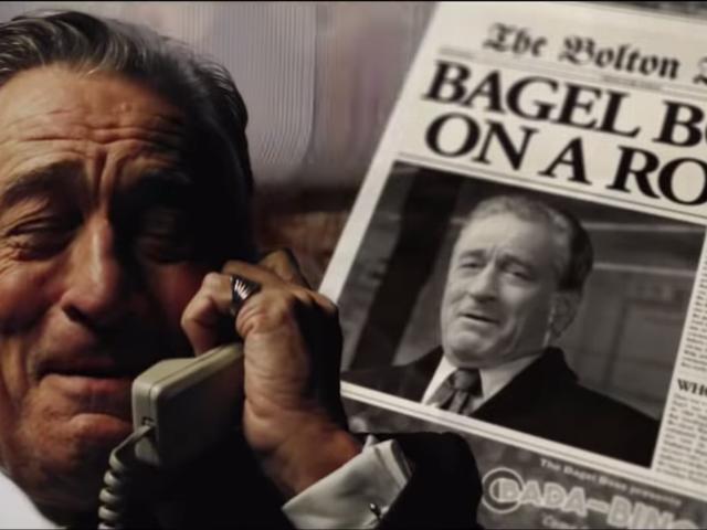 Ladies and gentlemen: Robert De Niro, bagel salesman