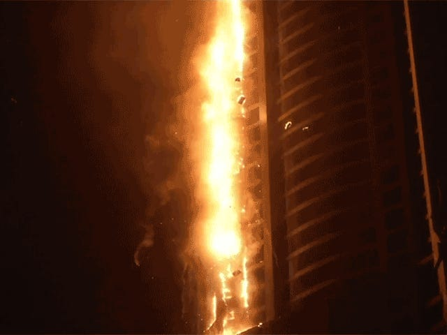 Dubai's Unfortunately Named Torch Tower Won't Stop Catching on Fire