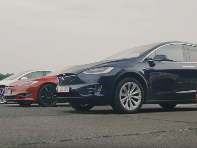 Here's How Every Tesla Performs In A Drag Race Against Each Other