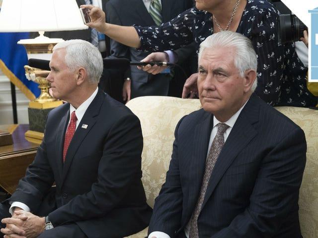 Donald Trump Calls Rex Tillerson 'Dumb as Rocks'