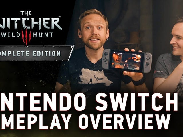 CD Projekt has released a lengthy video of The Witcher 3 running on the Nintendo Switch