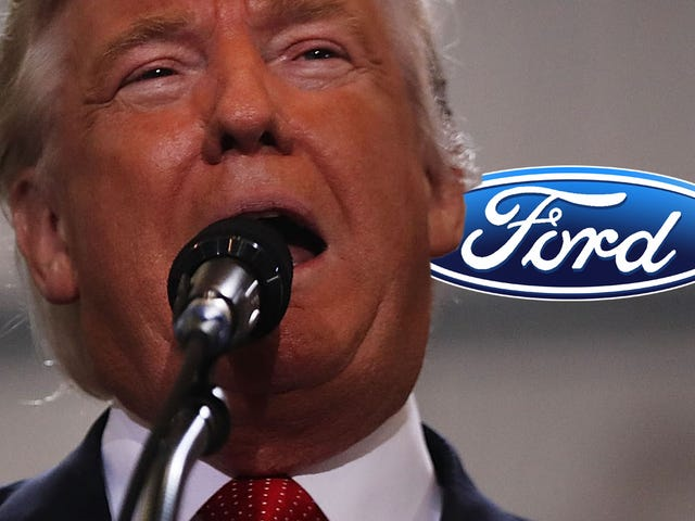 Ford Cowers To Trump's Bullshit About Mexico