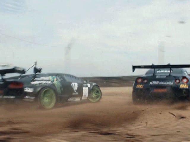 Ecco la fantasia di ogni pilota, o almeno tutti gli altri con Drift Lamborghinis e Nissan GT-Rs