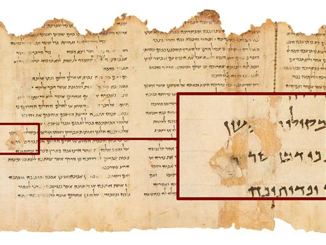 Uno de los manuscritos del mar Muerto se fabricó con una tecnología desconocida para su época