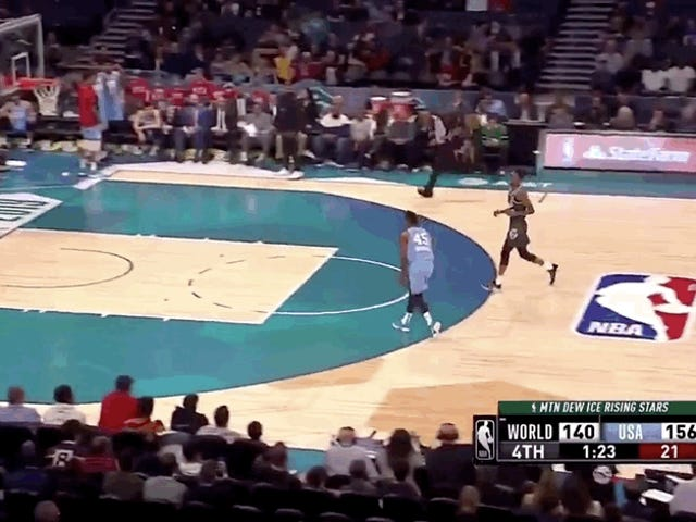 The NBA Rising Stars Challenge Featured A Strong Collection Of Apathetic Highlight Attempts