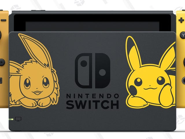 The Pikachu and Eevee Switch Bundles Are Up For Preorder on Amazon