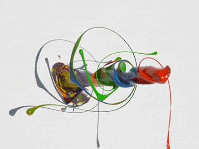Xem các màu sắc khác nhau của Spin Spin như Crazy trên máy khoan trong chuyển động chậm