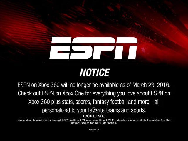 ESPNがサポートを終了するにつれて、数百万のXbox 360がまもなくCraigslistにあふれる