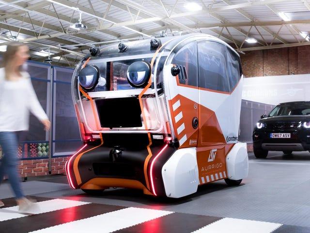 Jaguars nye autonome bil har et ansikt og det er skremmende