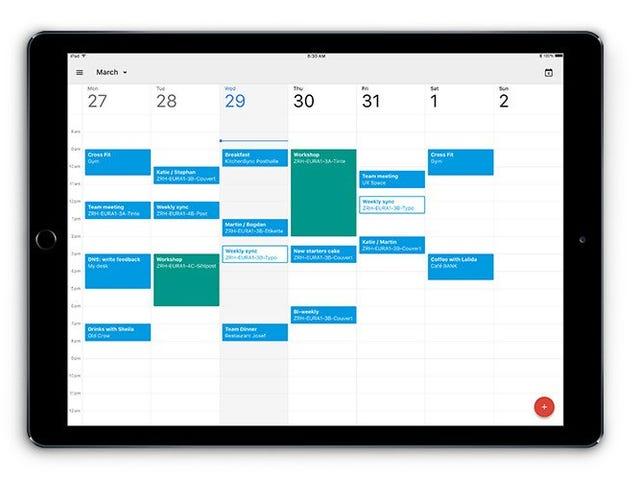 O Google Agenda está agora otimizado para o iPad