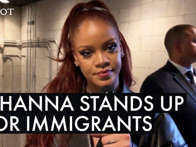 Watch: Rihanna Talks Immigration at the BET Awards