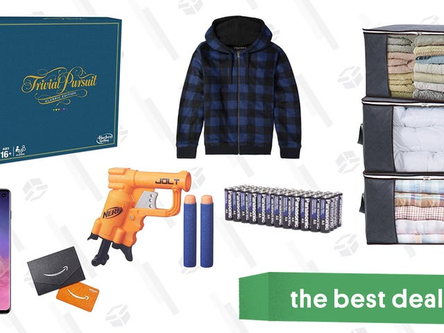 Saturday's Best Deals: Jachs Hoodies, Samsung S10, Nerf, Play-Doh, Storage Bags, and More