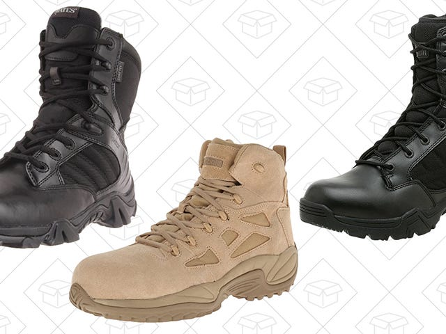 Work Better In These Discounted Military and Tactical Boots
