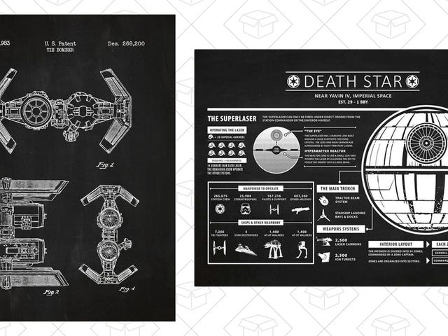 Steal Your Own Death Star Plans With This One-Day Screen Print Sale