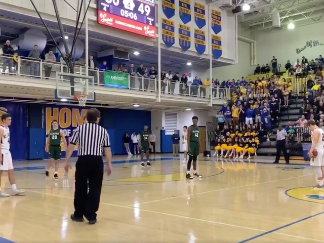Cowardly High School Team Bleeds Over Two Minutes Off Clock By Standing At Half-Court